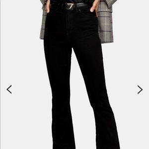 Jamie high waisted black flare jeans